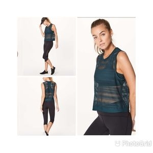 Lululemon Sweat Your Heart Out Tank In Submarine